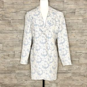 Chapter One pale blue floral coat